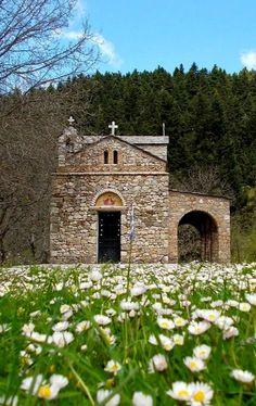 Spring.. Zoodohos Pigi church ~ Elati, Arcadia, Greece | Flickr - Photo by Eleni Kalogeropoulou