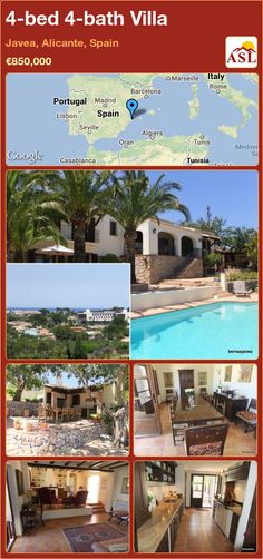4-bed 4-bath Villa in Javea, Alicante, Spain ►€850,000 #PropertyForSaleInSpain