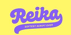 Reika Font | Webfont & Desktop | MyFonts Great Fonts, New Fonts, Script Fonts, Font Face, Goncalves, Creative Studio, Lowercase A, Lettering, Desktop