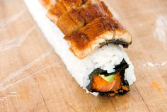 salmon avocado eel sushi roll recipe | use real butter