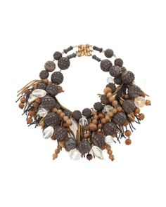 Channeling his love of fashion and antiques into an accessories line, designer Walid has gained a loyal customer base. His ornate furs and jewelry are statement keepsakes, and this antique crystal choker exemplifies his luxe aesthetic.