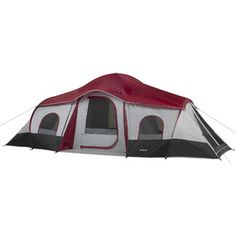 Ozark Trail 10-Person 3-Room XL Family Cabin Tent $139 (1 front entrance & 2 side entrances)
