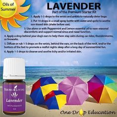 One of my favorites! lavender essential oil from Young Living. So many uses for this amazing oil! Don't go without it this summer!!!!
