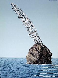 Surrealist painting of Mihai Criste