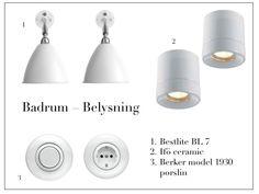 Belysning till badrum