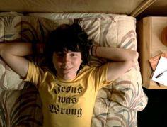 Little Miss Sunshine – Jesus was Wrong T-Shirt http://tshirtsonfilm.com/2014/11/little-miss-sunshine-jesus-was-wrong-t-shirt/