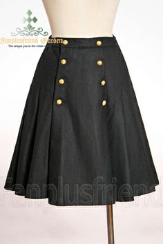 Elegant Gothic Aristocrat light Wool Pleated Skirt*Instant Shipping