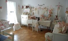Where I sew and create by Sweet Vintage Rose Cottage, via Flickr