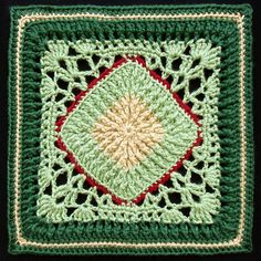 This square looks a bit different than the usual granny square. This Ribs and Lace Afghan Block by Joyce Lewis is thick and thin, and solid and lacy, and you get to decide where the colors go. The very interesting design makes this square gorgeous. I love the texture, the ribbing is so pretty. Designed …