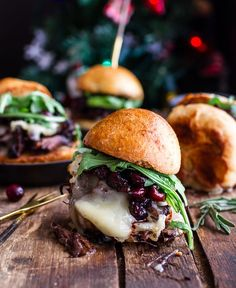 Gingery Steak and Brie Sliders. Yummy holiday party food
