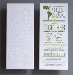 Love the details of these beautiful wedding invitations.