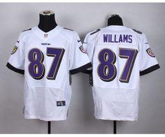 Baltimore Ravens 87 Willams White 2015 Nike Elite Jersey