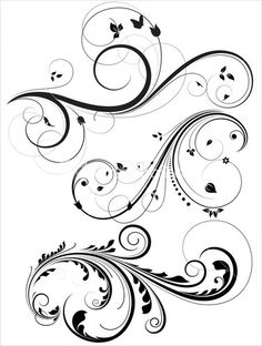 Floral And Swirl Elements
