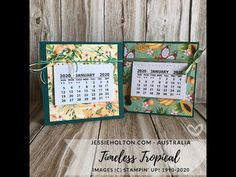 Jessie Holton - Aussie SU Demo : Free Standing Mini Desk Calandars with Tropical Oasis DSP Hi Gorgeous, Mini Desk, Desk Calendars, Desktop Calendar, Baby Cardigan Knitting Pattern, Christmas Knitting Patterns, Crochet Teddy, Paper Gifts, Jewelry Displays