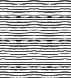 Watercolour Stripes - White and black
