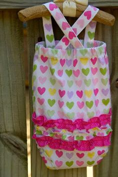 sweet stitches. (notes from my sewing machine): Tutorial: CrissCross Ruffle Sunsuit