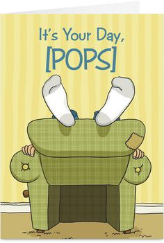 Pops Day Father's Day Card
