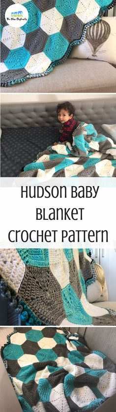e21816a15b4 Adorable crochet baby blanket pattern! This hexagon baby blanket is easy to  make and great