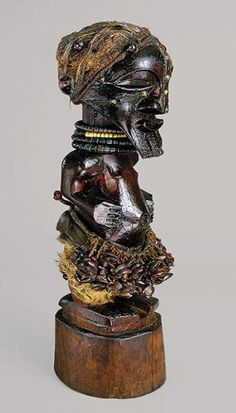 Community Power Figure (Nkishi) Songye, Democratic Republic of the Congo Wood, metal, palm oil, organic material; H. 41 cm (16 1/8 in.) 19th–early 20th century READ the article