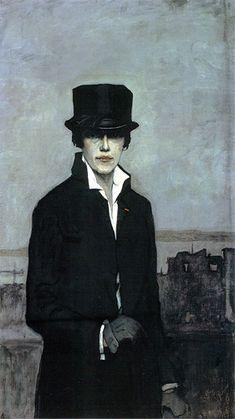 Romaine Brooks, Self-portrait, 1923.