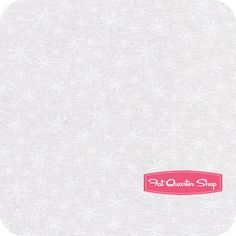 Muslin Mates White Snowflakes - possible backing, $9.75
