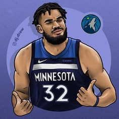 Basketball Art, Basketball Shirts, Basketball Players, Basketball Fotografie, Nba Pictures, Basketball Photography, Sports Wallpapers, Minnesota Timberwolves, Athlete