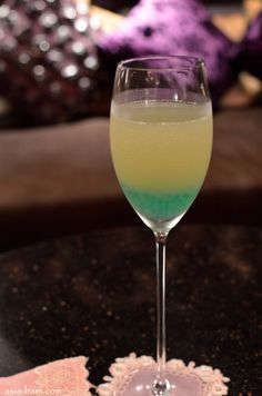 Peacock colored drink