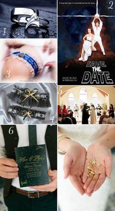{Wedding Themes That'll Make You Smile} || The Pink Bride www.thepinkbride.com || #startrek #starwars #weddingtheme