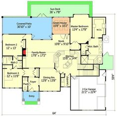 Plan W6348HD: Country, Traditional, Corner Lot, Shingle Style House Plans & Home Designs---use bd2&3 as office/craft room/library, bigger garage with bonus space as a bed, bath and loft for belle.: