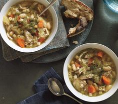 Slow-Cooker Chicken, Fennel, and White Bean Soup | Soup's on and these recipes will have you feeling great. They're chock full of nutrient-packed ingredients—and best of all, quick and easy to prepare.