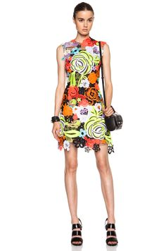Christopher Kane All Over Motif Poly Dress in Multi - killer outfit!