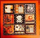 A Stampin' Up! Halloween Tags, Halloween Quilts, Halloween Pictures, Fall Halloween, Halloween Crafts, Halloween Decorations, Love Scrapbook, Scrapbooking, Diy Framed Art