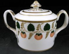 Mottahedeh STRAWBERRY VINE Sugar Bowl with Lid SHOWROOM INVENTORY MINT #MOTTAHEDEH