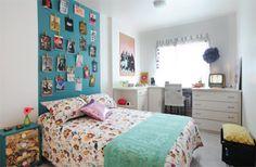 Em julho, Thalita comemorou um ano de casa pintando de Azul Fumê (Coral) uma...
