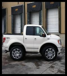 Mini Smart Truck ---Ford F150 4x4  These Smart Car body kits are just too much!  I want one of each!