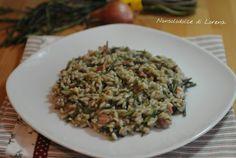 Risotto con asparagi selvatici e pancetta