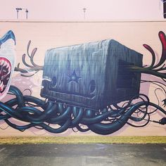 Nychos met Jeff Soto in Hawaii during Pow Wow 2013 for this incredible collaboration. Street Tattoo, Watercolor Mixing, Illustration Art, Illustrations, Pow Wow, Random Acts, Street Art Graffiti, Urban Art, Deities
