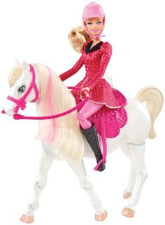 Mattel Barbie Barbie RC Train and Ride Horse. Barbie and Her Sisters in a Pony Tale Train and Ride Horse Playset . Mattel Barbie, Barbie Pony, Barbie Horse, New Barbie Dolls, Barbie And Ken, Barbie Fashionista, Toys R Us, Toddler Toys, Baby Toys