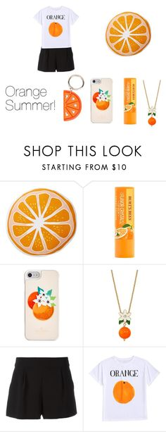 """Orange Summer!"" by chessmatilda ❤ liked on Polyvore featuring interior, interiors, interior design, home, home decor, interior decorating, Nordstrom Rack, Kate Spade, Boutique Moschino and Charlotte Olympia"