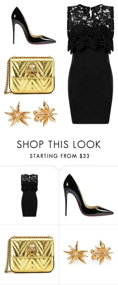 """""""Untitled#16"""" by almamehmedovic-79 ❤ liked on Polyvore featuring Christian Louboutin, Gucci and Joy Everley"""