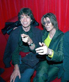 Mick Jagger and David Bowie David Bowie, Mick Jagger, David Jones, Los Rolling Stones, Bowie Starman, The Thin White Duke, Rod Stewart, Ziggy Stardust, Rock Legends