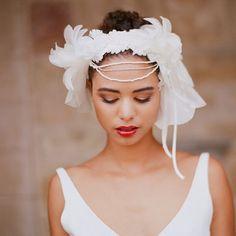 Headpiece by @myracallan dress by @Ines Di Santo