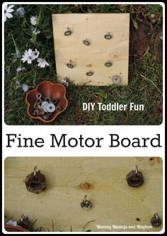 Easy DIY fine motor board fun for toddlers -Mummy Musings and Mayhem