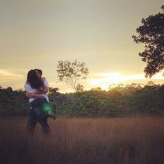 Happy couple, beautiful scene #wedding #photo #nature #sunset