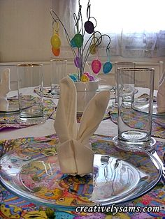 Easter Lunch Bunny Napkins