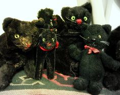 Black Cat Steiff Toys From the Early 1900's.