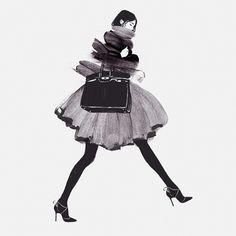 Judith van den Hoek. Fashion illustration on ArtLuxe Designs. #artluxedesigns