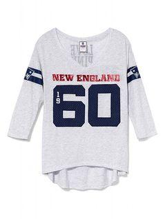 New England Patriots Three Quarter Sleeve Drapey Tee