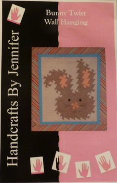Pattern - Bunny Twist - Wall Hanging - Two Sizes,Using Primitive Pinwheels Tool and Using the Lil' Twister Tool PT106
