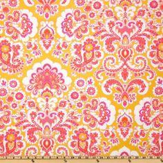 44 Wide Jennifer Paganelli Honey Child Flourish Papaya Fabric By The Yard by Free Spirit, $5.98 /yrd http://www.amazon.com/dp/B004RD8486/ref=cm_sw_r_pi_dp_fZ7urb0AE7BYX